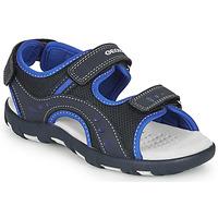 Shoes Boy Outdoor sandals Geox JR SANDAL PIANETA Marine