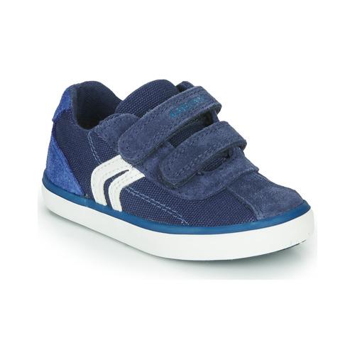 Shoes Boy Low top trainers Geox B KILWI BOY Blue / White