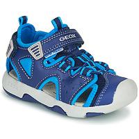 Shoes Boy Outdoor sandals Geox B SANDAL MULTY BOY Blue