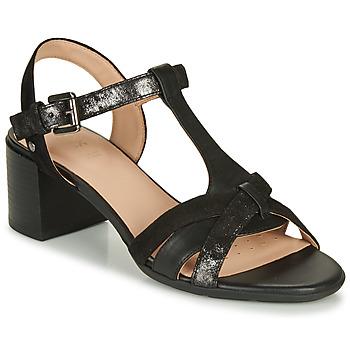Shoes Women Sandals Geox D MARYKARMEN MID SAN Black