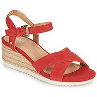 Shoes Women Sandals Geox D ISCHIA CORDA Red