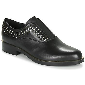 Shoes Women Derby Shoes Geox D BROGUE S Black / Gold