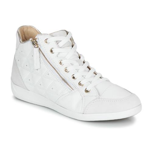 Shoes Women Hi top trainers Geox D MYRIA White