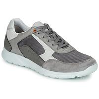Shoes Men Low top trainers Geox U ERAST Grey / White / Orange