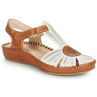Shoes Women Sandals Pikolinos P. VALLARTA 655 White / Camel