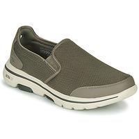 Shoes Men Slip-ons Skechers GO WALK 5 Kaki