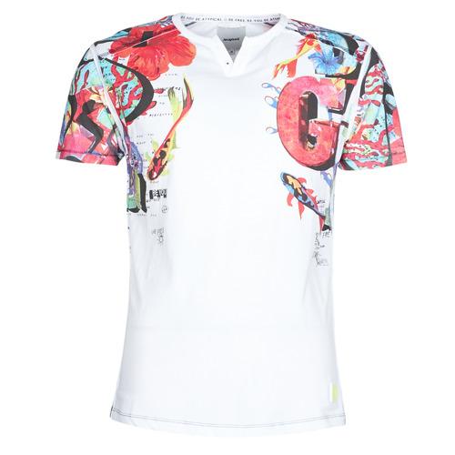 Clothing Men short-sleeved t-shirts Desigual LIAN Multicolour