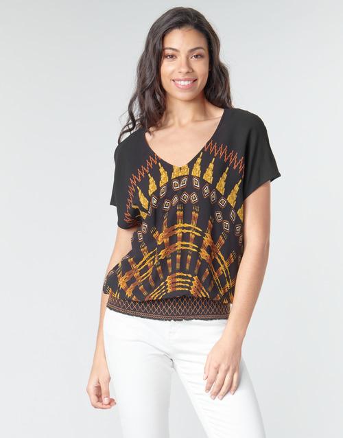 Clothing Women Tops / Blouses Desigual NAPOLES Multicolour
