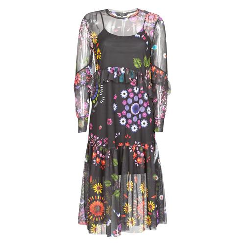 Clothing Women Long Dresses Desigual PORTLAND Multicolour