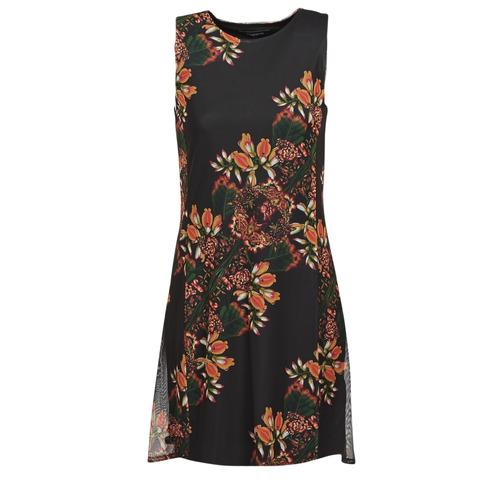 Clothing Women Short Dresses Desigual PAPILLON Multicolour