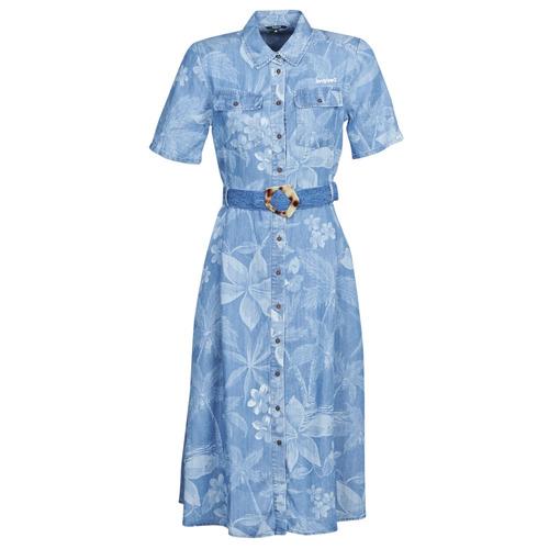 Clothing Women Long Dresses Desigual KATE Blue