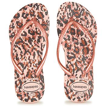 Shoes Girl Flip flops Havaianas SLIM ANIMALS Leopard