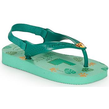 Shoes Children Flip flops Havaianas BABY DISNEY CLASSICS II Green