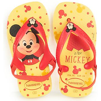 Shoes Boy Flip flops Havaianas BABY DISNEY CLASSICS II Yellow / Red