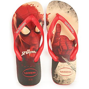 Shoes Men Flip flops Havaianas TOP MARVEL Red /  black