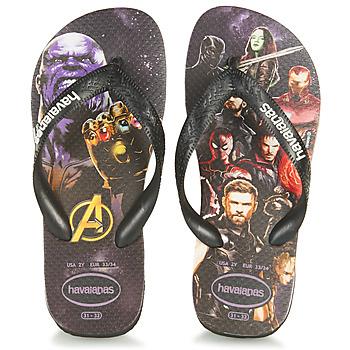 Shoes Boy Flip flops Havaianas KIDS MARVEL  black / Multicoloured