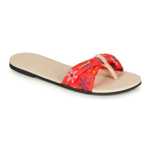 Shoes Women Sandals Havaianas YOU SAINT TROPEZ Beige / Red