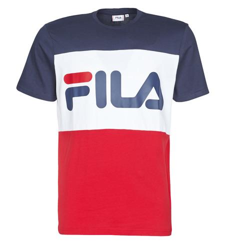 Clothing Men short-sleeved t-shirts Fila DAY Marine / Red / White