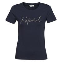 Clothing Women short-sleeved t-shirts Kaporal RAXI Marine
