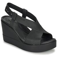 Shoes Women Sandals Crocs CROCS BROOKLYN HIGH WEDGE W Black