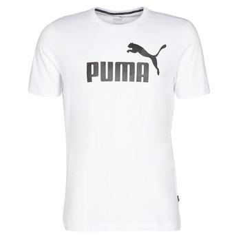 Clothing Men short-sleeved t-shirts Puma ESSENTIAL TEE White