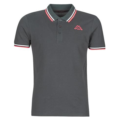 Clothing Men short-sleeved polo shirts Kappa ESMO Grey / White / Orange