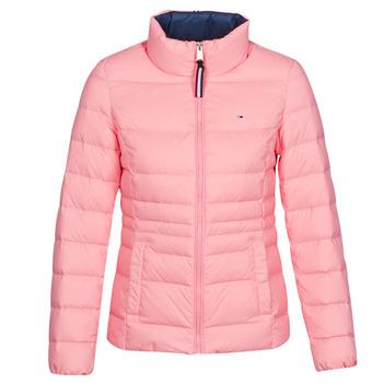 Clothing Women Duffel coats Tommy Jeans MODERN DOWN JKT Pink