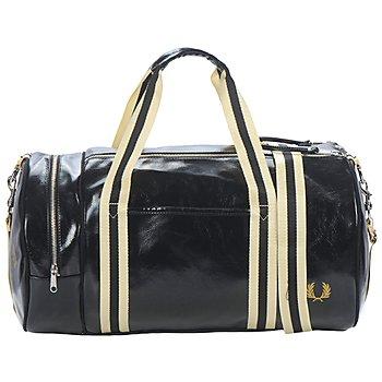 Bags Men Sports bags Fred Perry BARREL BAG Black / Gold