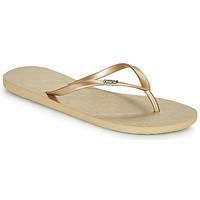 Shoes Women Flip flops Roxy VIVA V Gold