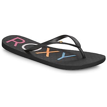 Shoes Women Flip flops Roxy SANDY III Black