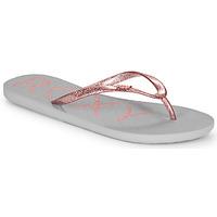 Shoes Women Flip flops Roxy VIVA SPARKLE Grey / Pink