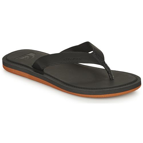 Shoes Men Flip flops Quiksilver MOLOKAI NUBUCK II Black