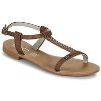 Shoes Women Sandals Les Petites Bombes EMILIE Camel