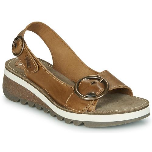 Shoes Women Sandals Fly London TRAM2 FLY Camel