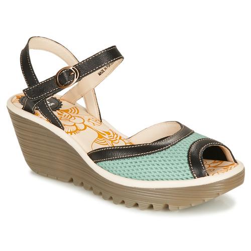 Shoes Women Sandals Fly London YANS Blue / Black