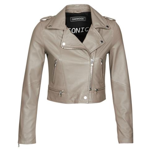 Clothing Women Leather jackets / Imitation leather Oakwood YOKO Mastic / (taupe)