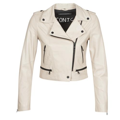 Clothing Women Leather jackets / Imitation leather Oakwood YOKO Ivory