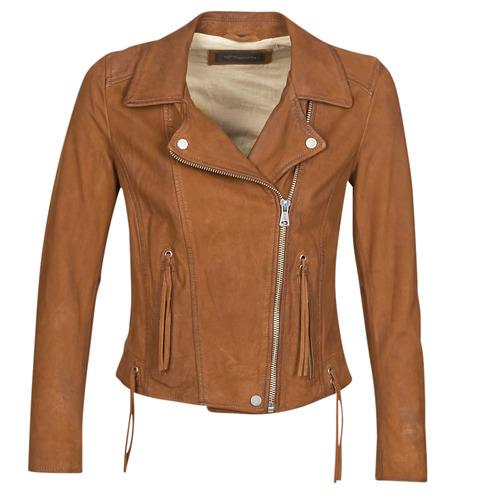 Clothing Women Leather jackets / Imitation leather Oakwood ANGIE Brown