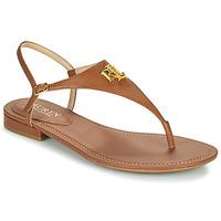 Shoes Women Sandals Lauren Ralph Lauren ELLINGTON SANDALS CASUAL Cognac