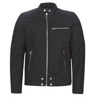 Clothing Men Leather jackets / Imitation leather Diesel J-GLORY Black