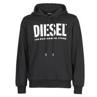 Clothing Men Sweaters Diesel GIR-HOOD-DIVISION Black