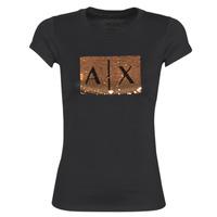 Clothing Women short-sleeved t-shirts Armani Exchange HONEY Black