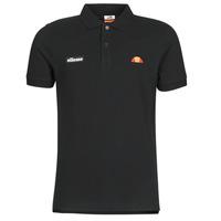 Clothing Men short-sleeved polo shirts Ellesse MONTURA Black