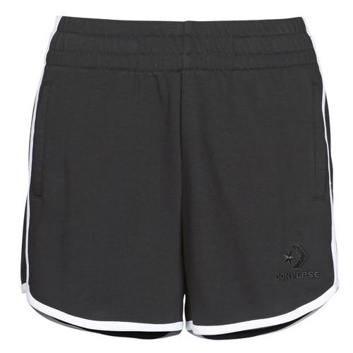 Clothing Women Shorts / Bermudas Converse TWISTED VARSITY SHORT Black