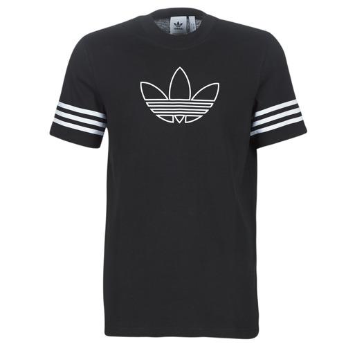 Clothing Men short-sleeved t-shirts adidas Originals OUTLINE TEE Black