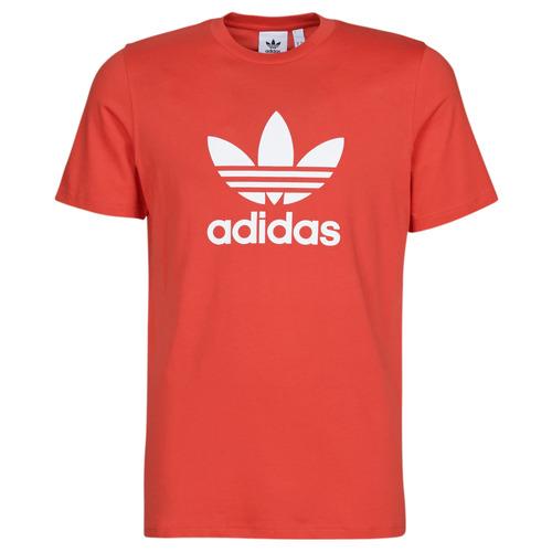 Clothing Men short-sleeved t-shirts adidas Originals TREFOIL T-SHIRT Red