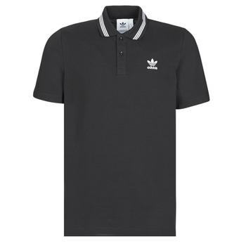 Clothing Men short-sleeved polo shirts adidas Originals PIQUE POLO Black