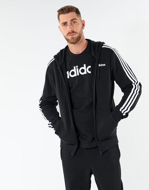 Clothing Men Sweaters adidas Performance E 3S FZ FT Black