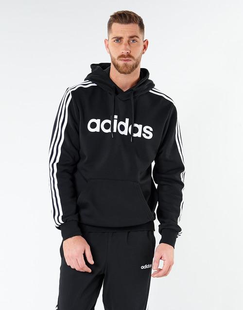 Clothing Men Sweaters adidas Performance E 3S PO FL Black