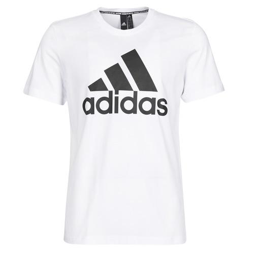 Clothing Men short-sleeved t-shirts adidas Performance MH BOS Tee White